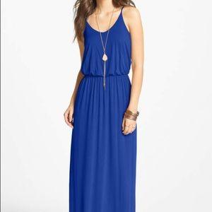 Nordstrom Lush Long Royal Blue Maxi Dress